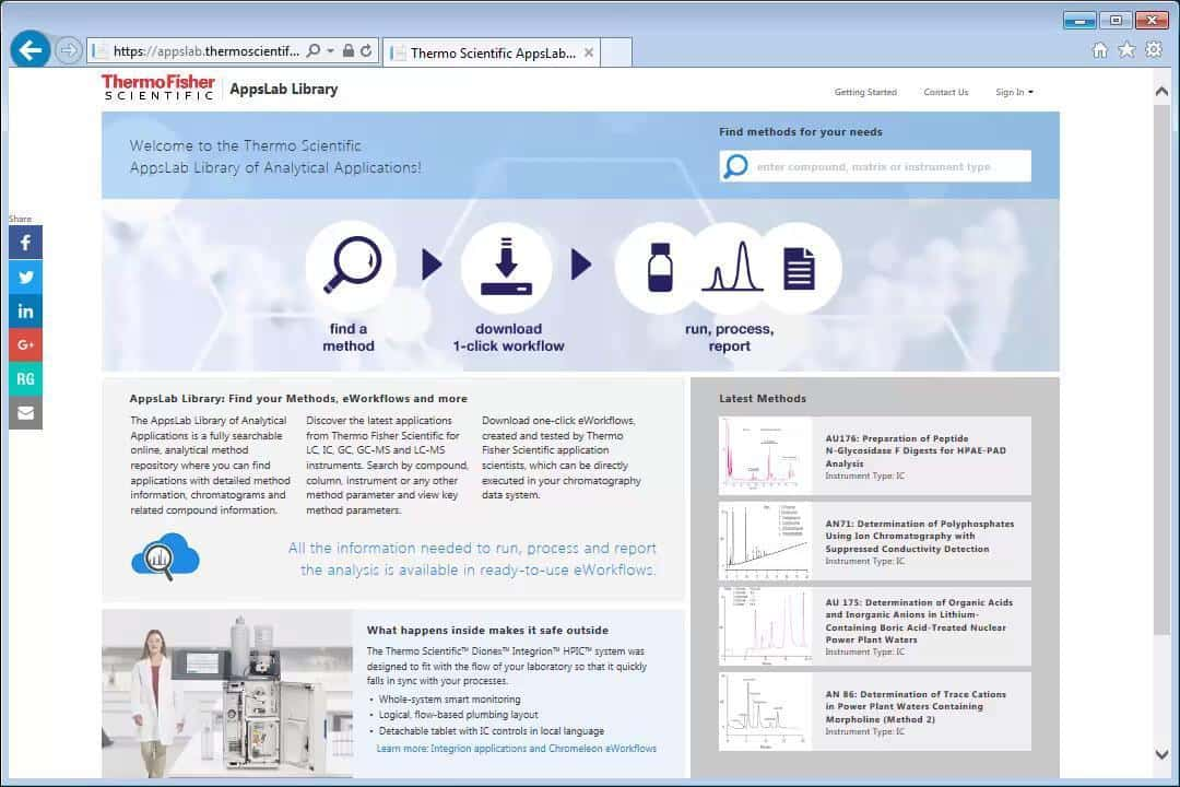 AppsLab Library | Thermo Fisher Scientific - SG