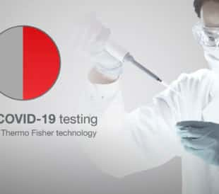 50% of COVID-19 testing performed on Thermo Fisher technology