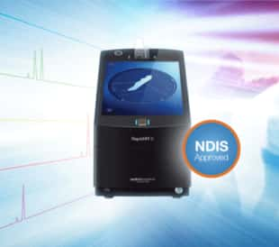 """A graphic shows the RapidHIT ID System with an """"NDIS approved"""" badge"""