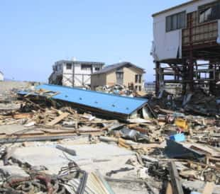 Houses destroyed by the The Great East Japan Earthquake in Iwate. Image: yankane/Shutterstock.com