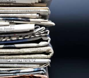 Stack of newspapers. Image: qvist/Shutterstock.com
