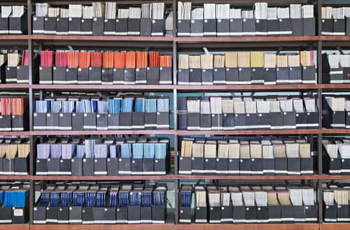 Journals on a shelf. Image: Sergei25/Shutterstock.com