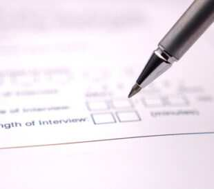 Close-up of pen and questionnaire. Image: Dreamstudios/Shutterstock.com