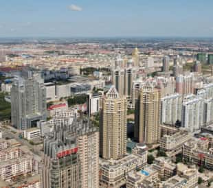 An overhead shot of Harbin, China. Image: russal/Shutterstock.com