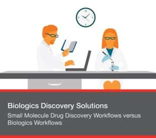 Small Molecule Drug Discovery Workflows versus Biologics Workflows