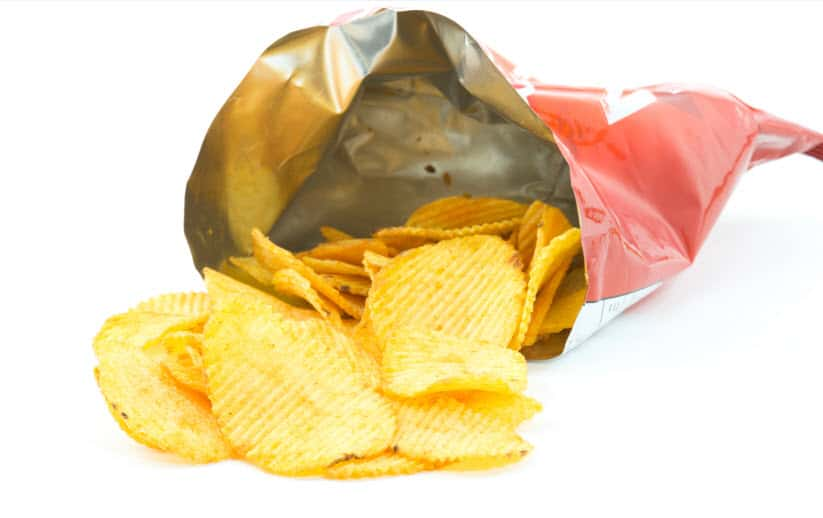 potato chip metalized bag