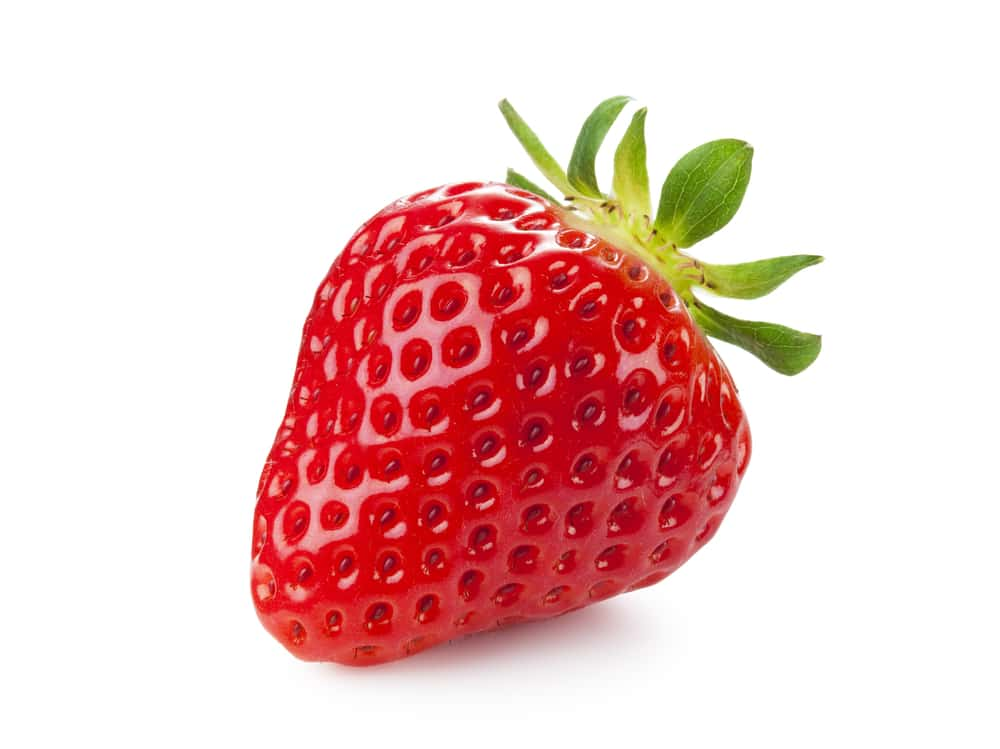 Single Strawberry, isolated on a white background