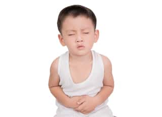 boy with stomach pain