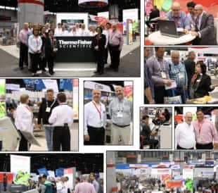 Pictures of the Thermo Fisher Scientific booth at Pack Expo.