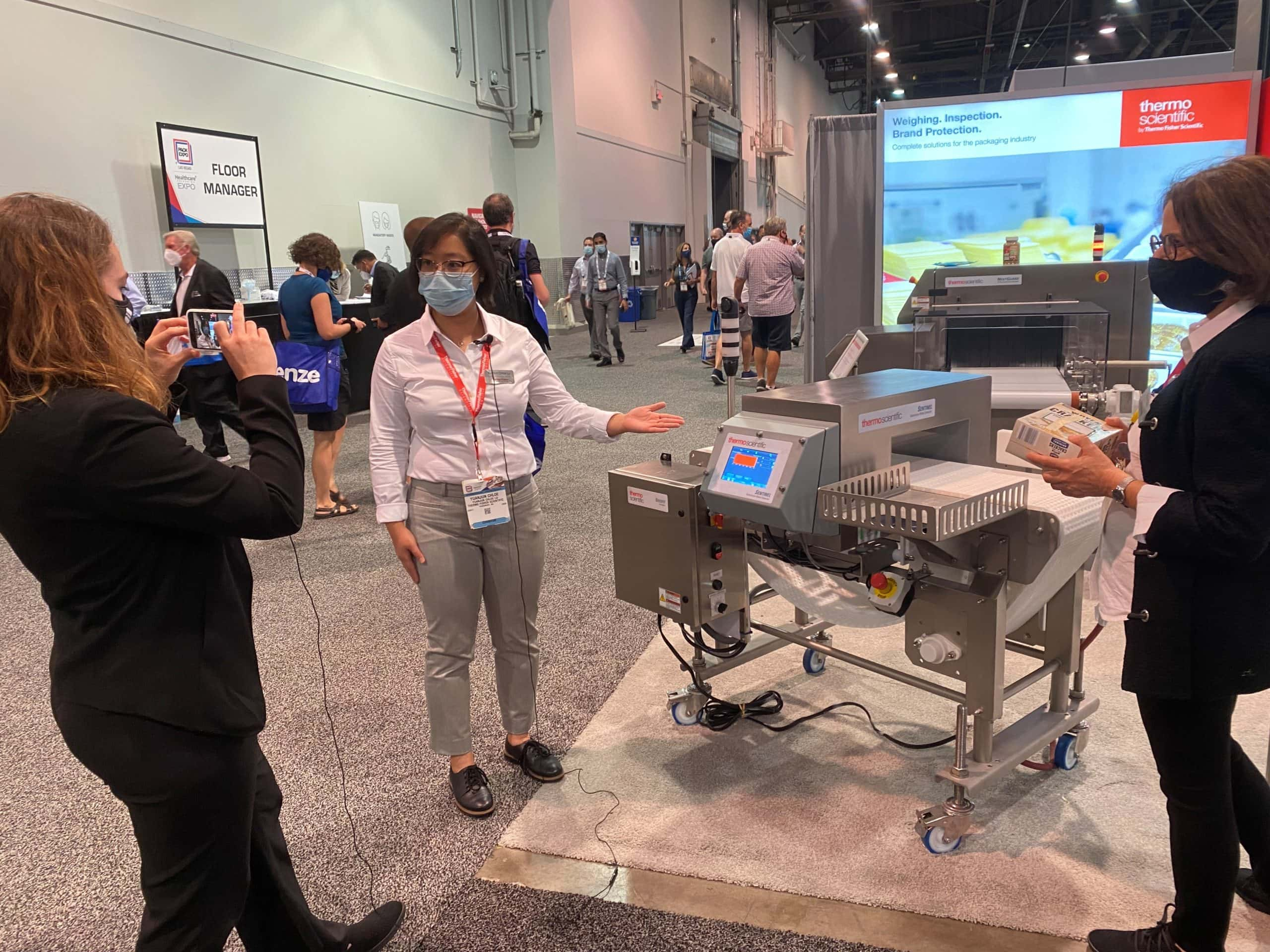 Getting interviewed at PackExpo