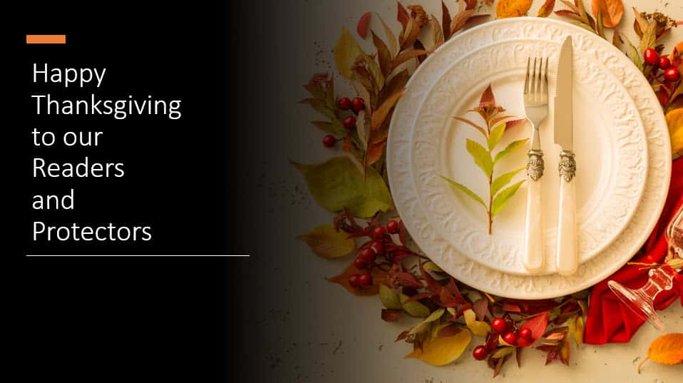 Happy Thanksgiving to our Safety and Security Readers
