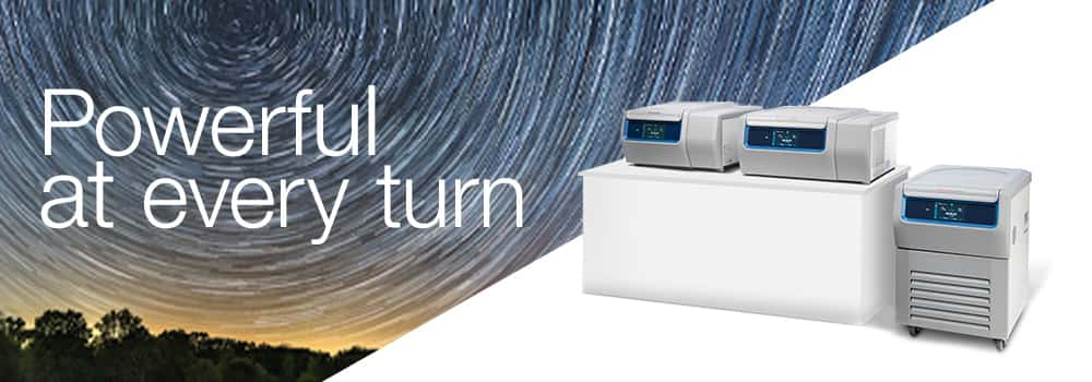 Three General Purpose Pro Centrifuges with swirling background design