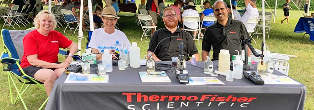 Thermo Fisher Scientific employees at an Ipswich River Watershed Association Fundraiser