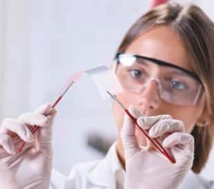 scientists with graphene