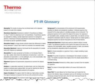 FTIR Glossary
