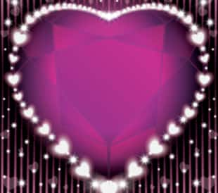 valentine diamond heart