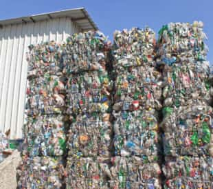 plastics recycling scrapyard