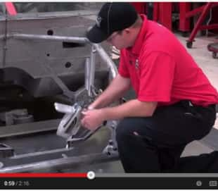 Ganassi measures all the metal they use in car fabrication, from the chassis to suspension component