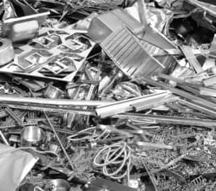 shiny scrap metal recycling