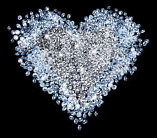 heart made of diamonds