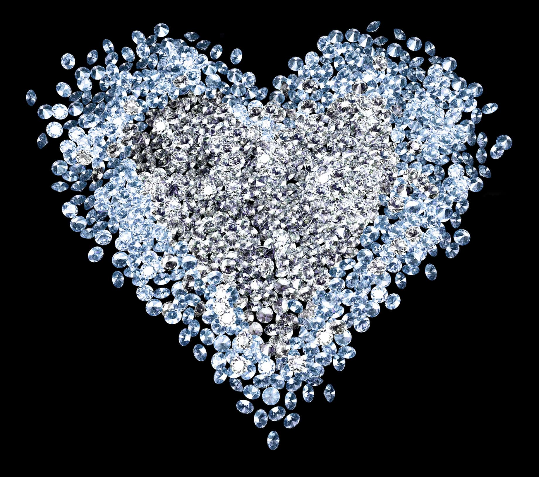 heart made of diamonds