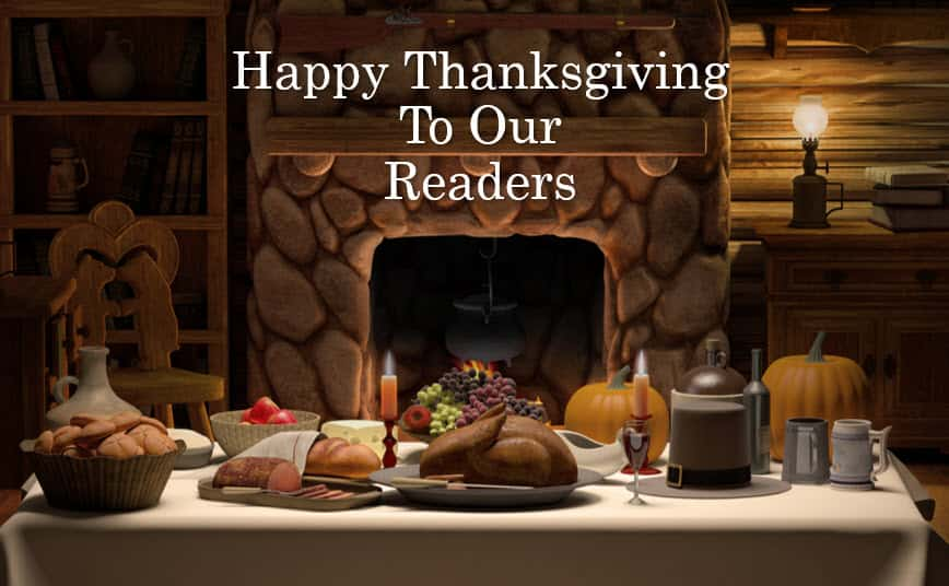 Happy Thanksgiving to our Mining Readers