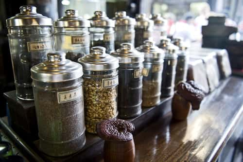 Jars of traditional Chinese medicine. Image: tiptoee/Shutterstock.com