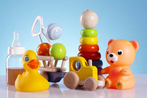 Baby toys and equipment. Image: FikMik/Shutterstock.com.