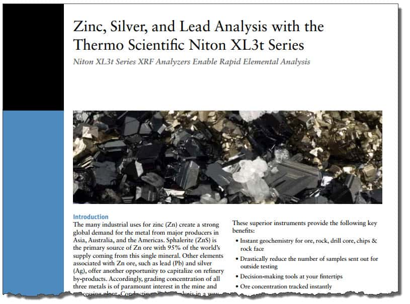 Mining zinc analysis comparing portable xrf results with lab results zincappnoteg urtaz Images