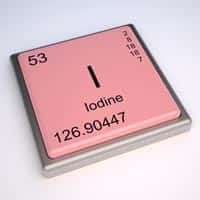 Iodine element stamp