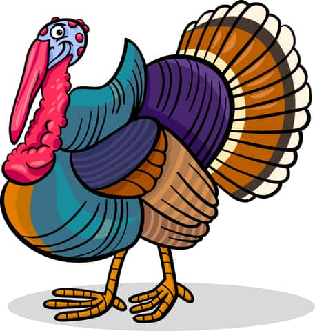 cartoon image of turkey