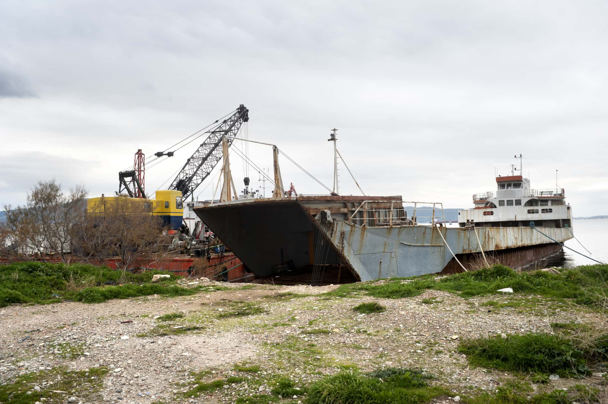 Old Ships Find New Life as Scrap Metal