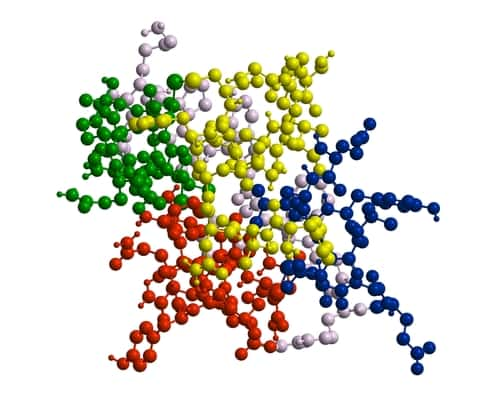 Molecular structure of peptide. Image: Raimundo79/Shutterstock.com