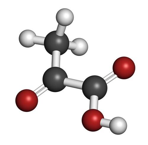 Pyruvate molecule. Image: molekuul.be/Shutterstock.com