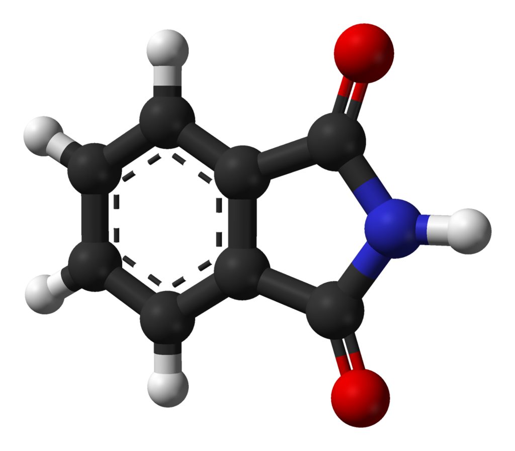 Phthalimide. By Ben Mills (Own work) [Public domain], via Wikimedia Commons