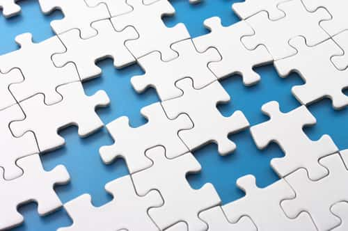Missing puzzle pieces. Concept image of unfinished task. Image: tadamichi/Shutterstock.com.