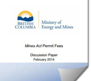 Mines Act Permit Fees Discussion Paper - February 2014