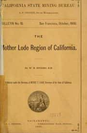 Mother Lode of CA - 1900