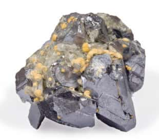 Crystals galena sphalerite and quartz