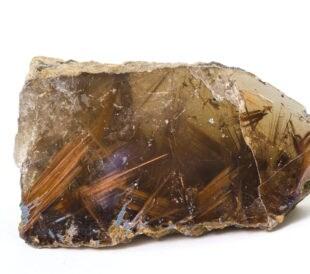 rutilated quartz mainly made up of titanium dioxide (rutile) within quartz.