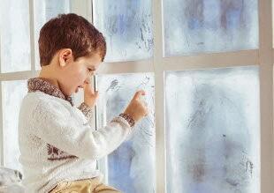 window pane with metal coatings