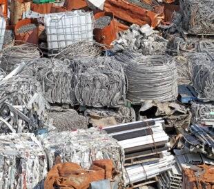 sorted scrap metal