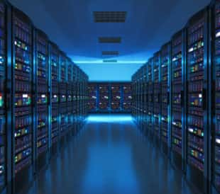 Room full of network servers. Image: Oleksiy Mark/Shutterstock.com