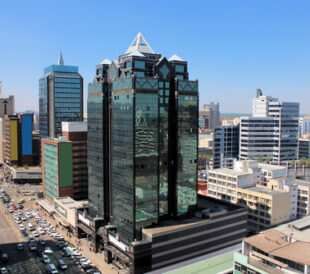 Arial view of main street of Harare, Zimbabwe. Image: Ulrich Mueller/Shutterstock.com