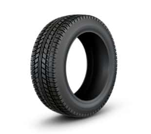 black rubber tire