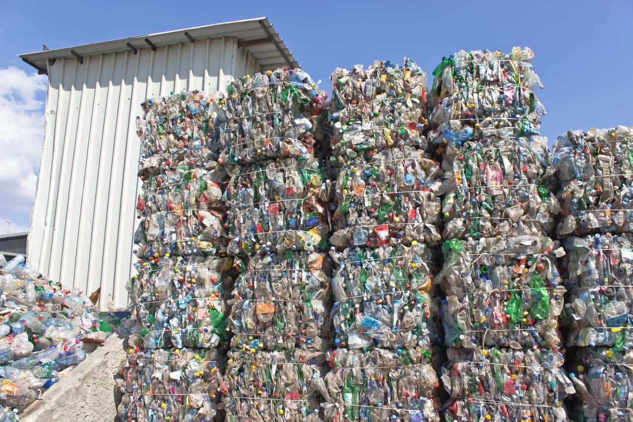 plastics recycling scrapyard