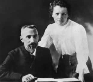 Pierre Curie and Marie Sklodowska Currie c. 1903