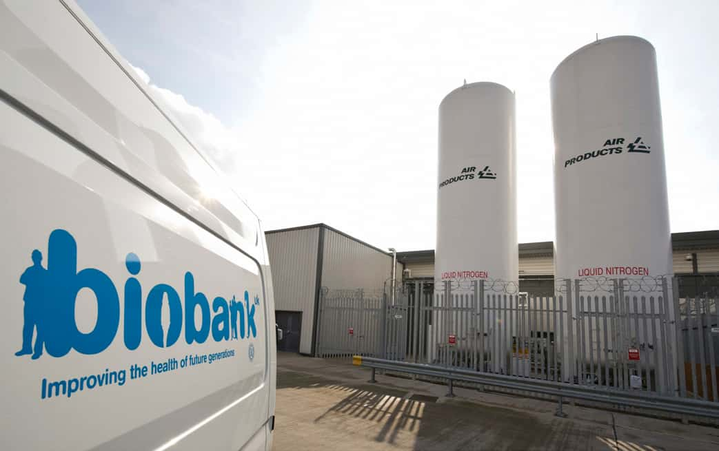A biobank van and towers