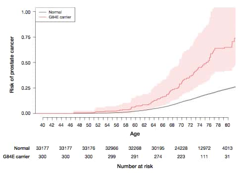 Age-specific risk of prostate cancer by HOXB13 G84E mutation carrier status
