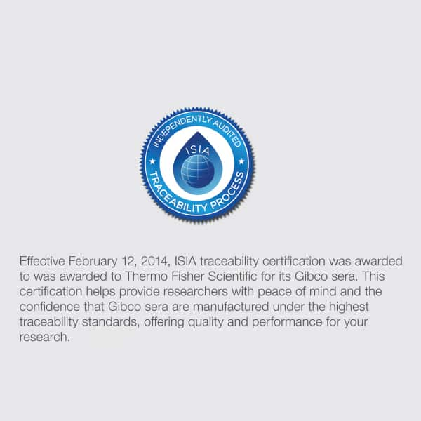 ISIA traceability certification award